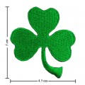 Irish Leaf Style-1 Embroidered Iron On Patch
