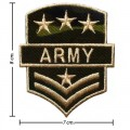 US Army Stripe Style-1 Embroidered Iron On Patch