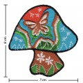 Colorful Magic Mushroom Sign Style-3 Embroidered Iron On Patch