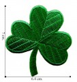 Green Shamrock Lucky Clover Style-2 Embroidered Iron On Patch