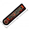 Harley Davidson Machinist Patches Embroidered Iron On Patch