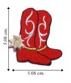 Cowgirl Boot Style-2 Embroidered Iron On Patch
