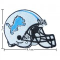 Detroit Lions Helmet Style-1 Embroidered Iron On Patch