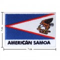 American Samoa Nation Flag Style-2 Embroidered Iron On Patch
