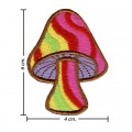 Colorful Magic Mushroom Sign Style-5 Embroidered Iron On Patch