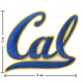 California Golden Bears Style-1 Embroidered Iron On Patch