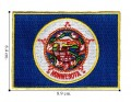 Minnesota State Flag Embroidered Iron On Patch