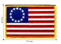 American Flag Style-10 Embroidered Iron On Patch