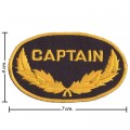 The Captain US ARMY Style-2 Embroidered Iron On Patch