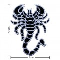 Scorpion Sign Style-1 Embroidered Iron On Patch