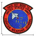 US Navy Fighter Weapons School Top Gun Style-3 Embroidered Iron On Patch