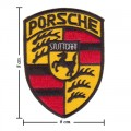 Porsche Style-2 Embroidered Iron On Patch