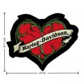 Harley Davidson Love Scroll Patches Embroidered Iron On Patch
