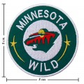 Minnesota Wild Style-2 Embroidered Iron On Patch