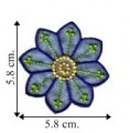 Blue Chiffon Flower Style-5 Embroidered Sew On Patch