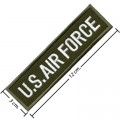 US Air Force Army Embroidered Iron On Patch