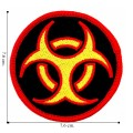 Biohazard Sign Style-2 Embroidered Iron On Patch