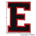 Alphabet E Style-1 Embroidered Iron On Patch