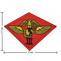 Marine Air Wing Embroidered Iron On Patch