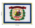 West Virginia State Flag Embroidered Iron On Patch
