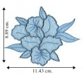 Blue Chiffon Flower Style-3 Embroidered Sew On Patch