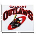 Calgary Outlaws Style-1 Embroidered Iron On Patch