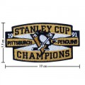 Pittsburgh Penguins Style-4 Embroidered Iron On Patch