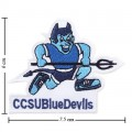Central Connecticut State Blue Devils Style-1 Embroidered Iron On Patch