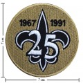 New Orleans Saints 25 Anniversary Embroidered Iron On Patch