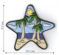 Large Starfish with Scenery Embroidered Iron On Patch