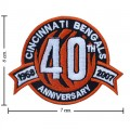 Cincinnati Bengals Anniversary Style-1 Embroidered Iron On Patch