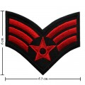 US Army Stripe Style-12 Embroidered Iron On Patch