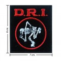 D.R.I Music Band Style-1 Embroidered Iron On Patch