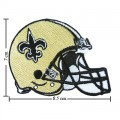 New Orleans Saints Helmet Style-1 Embroidered Iron On Patch