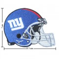 New York Giants Helmet Style-1 Embroidered Iron On Patch