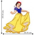 Princess Snow White Embroidered Iron On Patch