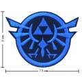 Zelda Triforce Game Style-1 Embroidered Iron On Patch