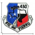 Texas Fierro Rio Del 430 Embroidered Iron On Patch