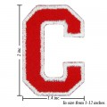 Alphabet C Style-2 Embroidered Iron On Patch