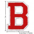 Alphabet B Style-2 Embroidered Iron On Patch