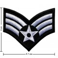 US Army Stripe Style-11 Embroidered Iron On Patch
