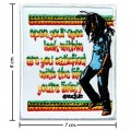 Bob Marley A Reggae Ska Band Style-1 Embroidered Iron On Patch