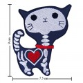 Cat Ghost Cartoon Comic Embroidered Iron On Patch
