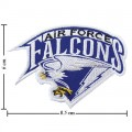 Air Force Falcons Primary Style-1 Embroidered Iron On Patch