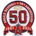 Los Angeles Angels of Anaheim 50th Anniversary Embroidered Iron On Patch