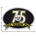 Pittsburgh Steelers 75th Season Embroidered Iron On Patch