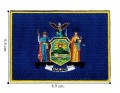 New York State Flag Embroidered Iron On Patch
