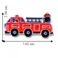 Children's Red Fire Engine Truck Embroidered Iron On Patch