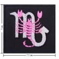 Roman Zodiac Scorpio Embroidered Iron On Patch