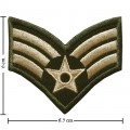US Army Stripe Style-10 Embroidered Iron On Patch